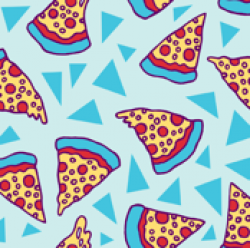 Drawn wallpaper pizza