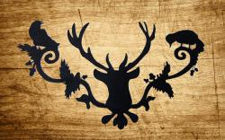 Drawn stag silhouette
