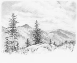 Drawn scenic portrait