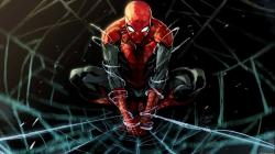 Drawn wallpaper spiderman