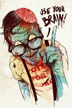Drawn wallpaper zombie