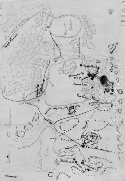 Drawn map oregon