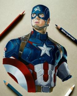 Drawn amd captain america