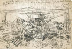 Drawn soldiers battlefield