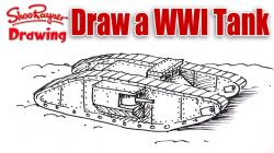 Drawn wars ww1 tank