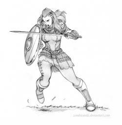 Drawn warrior