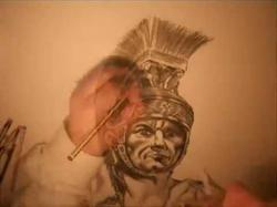Drawn warrior ancient rome