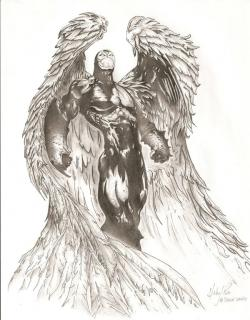 Drawn warrior archangel gabriel