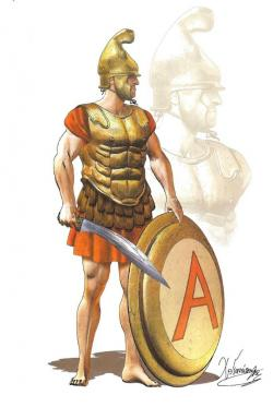 Drawn warrior athenian