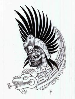 Aztec Warrior clipart mexico city