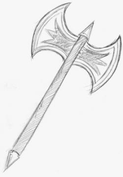 Drawn axe battle axe