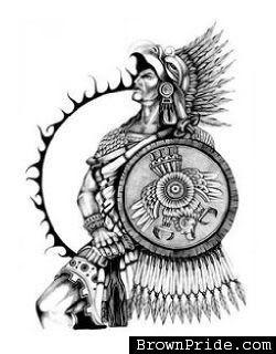 Aztec Warrior clipart artwork