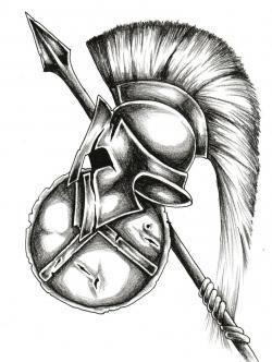 Drawn tattoo warrior