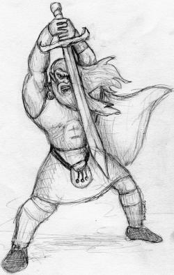 Drawn warrior celtic warrior