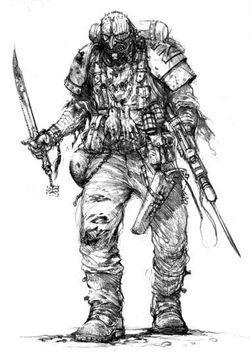 Drawn warrior chaos