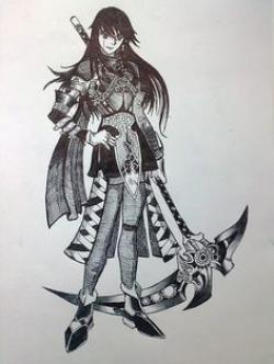Drawn scythe double sided