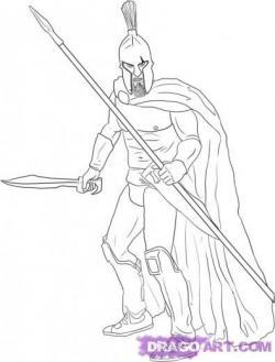 Drawn warrior easy
