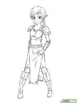 Drawn warrior elf