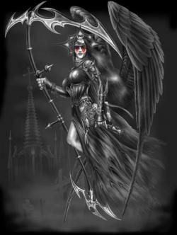 Drawn grim reaper female villain