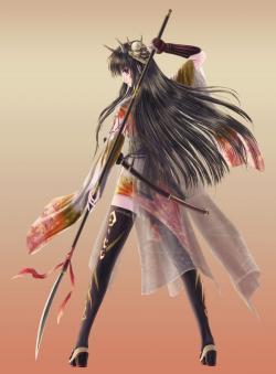 Drawn warrior japanese anime