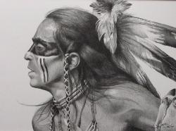 Drawn warrior native