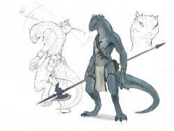Drawn furry lizard