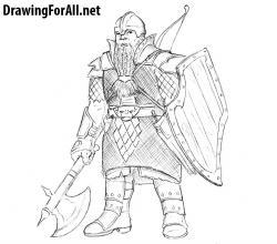 Drawn dwarf drawing