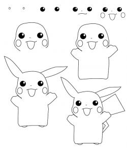 Drawn pikachu easy
