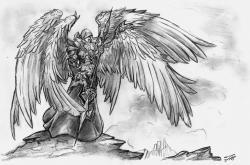 Drawn warrior warrior angel