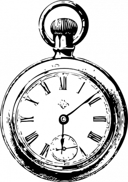 Drawn pocket watch cartoon