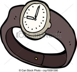 Drawn watch cartoon