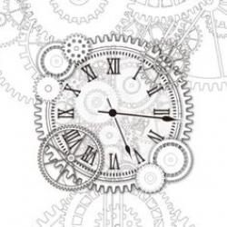 Drawn watch clock gear