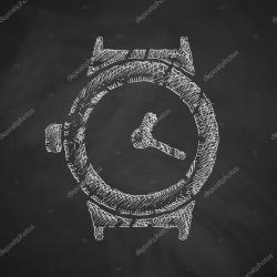 Drawn watch hand vector