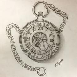 Drawn pocket watch designer