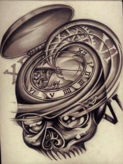 Drawn pocket watch filigree