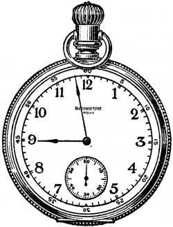 Drawn watch stopwatch