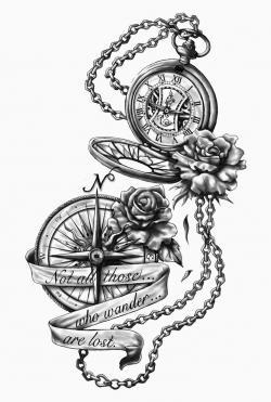 Pocket Watch clipart compass