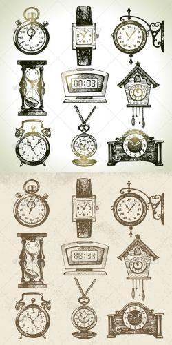 Drawn hourglass stopwatch