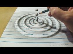Drawn waterdrop illusion art