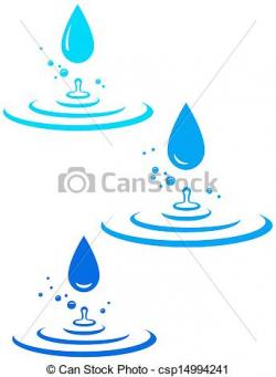 Drawn waterdrop water splash