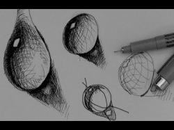 Drawn spheric ink