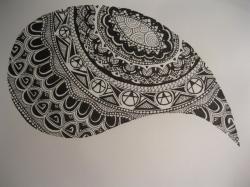 Drawn waterdrop doodle