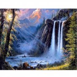 Drawn waterfall
