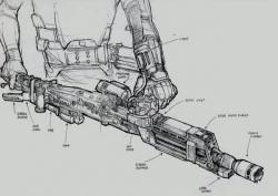 Drawn weapon alien