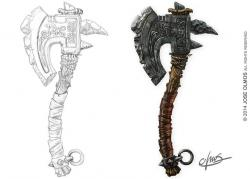 Drawn axe holy