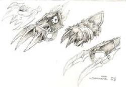 Drawn weapon battle claw