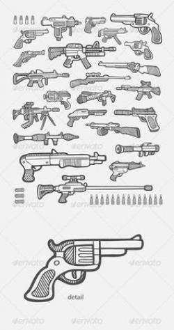 Drawn gun sprite