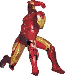 Drawn suit iron man