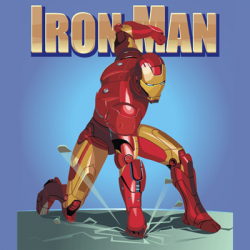 Drawn weapon iron man