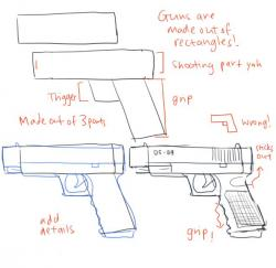 Drawn weapon made